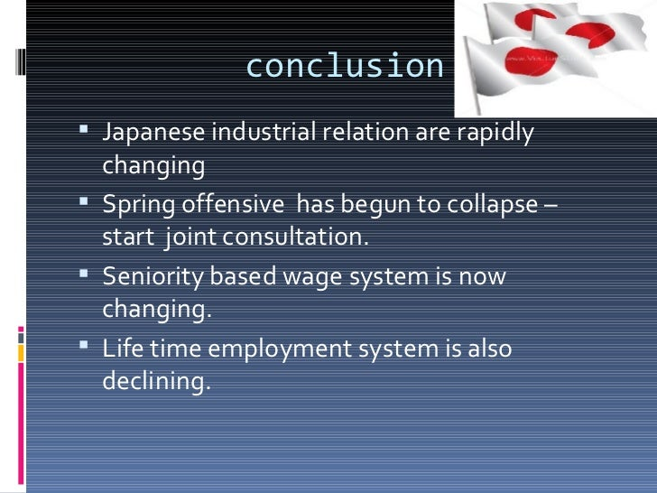 The industrial relation system in japan
