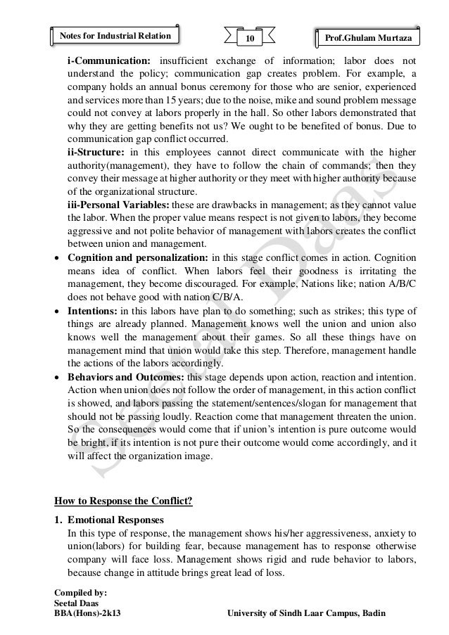 industrial relations exam notes 1 chapter 1 overview of industrial relations in india 11 concept of industrial relations the concept of industrial relations started way back in eighteenth.