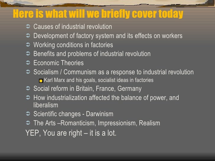 karl marxs views on how industrialization affected All of these were illustrative of the industrial revolution's impact on economic, social and political exploitation of the proletariat marx argued that the industrial revolution had polarised the gap between the owners of the means of production and the workers even more.