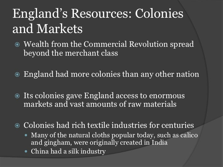 Natural Resources Necessary For Industrial Revolution