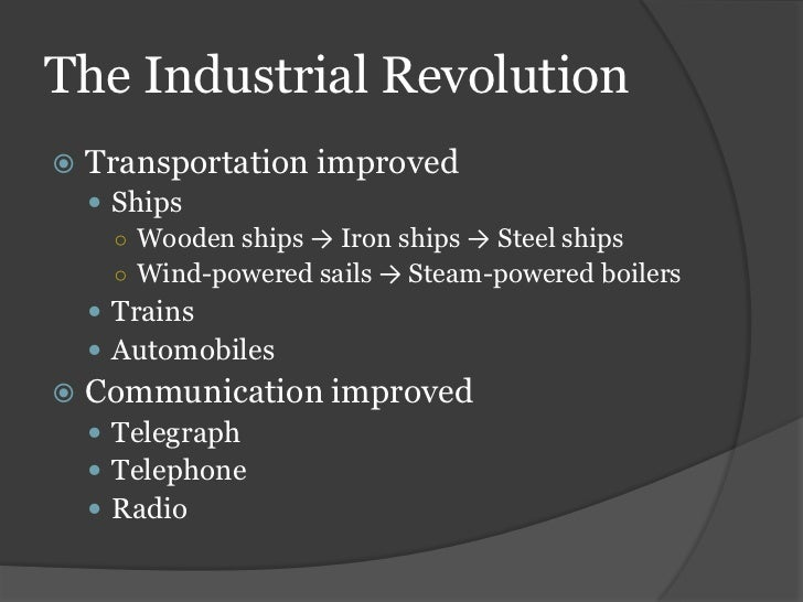 the production of goods during the industrial revolution This revolution changed the production of textiles and iron-making from manual labour to mechanical production machines made production faster more goods were produced for lower costs.