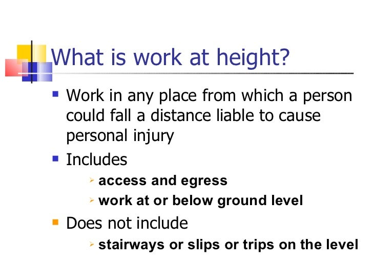 work at height safety pdf