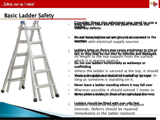 Industrial for Ladder safety tips