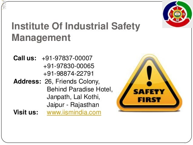 Industrial and Safety Management
