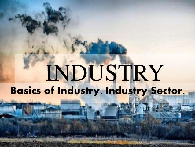 INDUSTRY  Basics of Industry. Industry Sector.