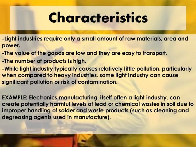 characteristics of primary sector