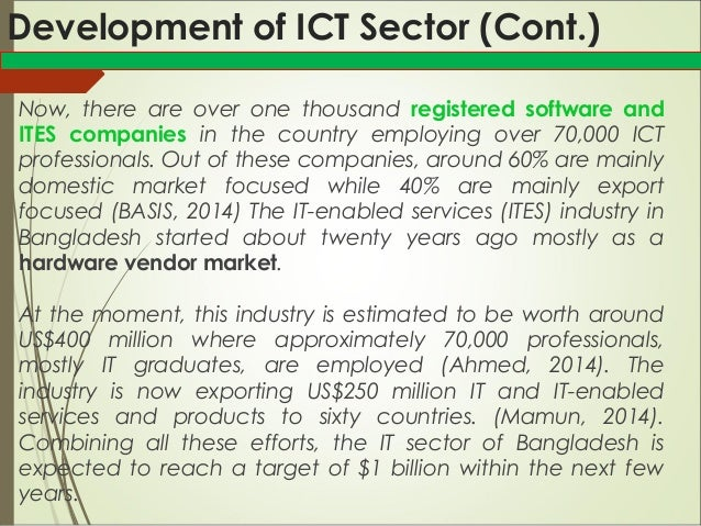Industrial Sector Ict Telecommunication In Bangladesh 1