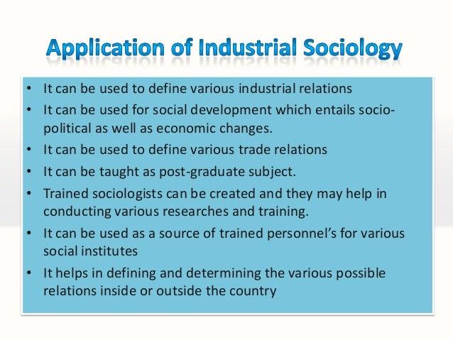 Pdf industrial sociology book