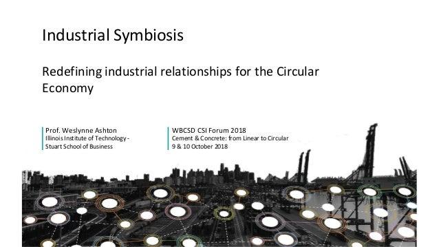 Redefining industrial relationships for the Circular Economy Prof. Weslynne Ashton Illinois Institute of Technology - Stua...