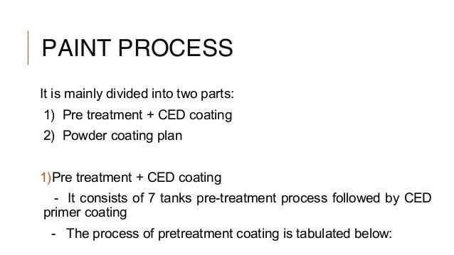 Pretreatment Process In Paint Shop Ppt