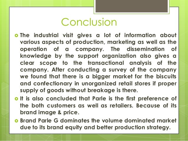 How to write a report on industrial visit