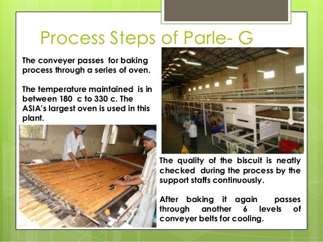 Process Steps of Parle- G The conveyer passes for baking process through a series of oven. The temperature maintained is i...
