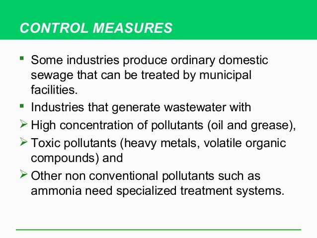Industrial waste water pollution tmba 2013 04 copepodscrustaceans 23 control measures some industries produce ordinary domestic sewage publicscrutiny Gallery