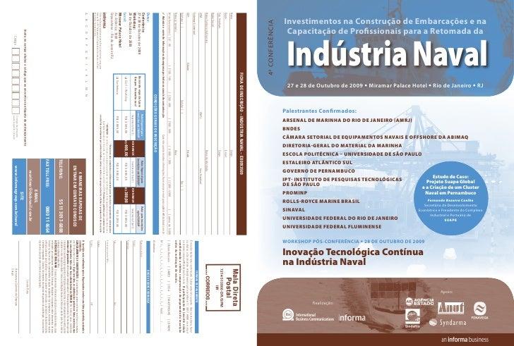 Investimentos na Construção de Embarcações e na 4ª CONFERÊNCIA                    Capacitação de Profissionais para a Reto...
