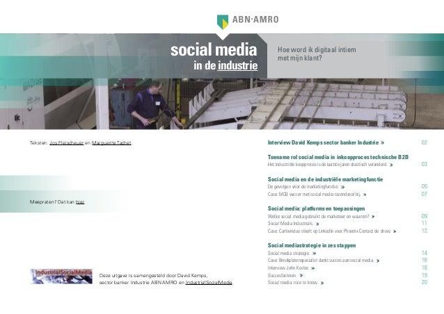 socialmediaindeindustrieInterview David Kemps sector banker Industrie 02Toename rol social media in inkoopproces technisc...