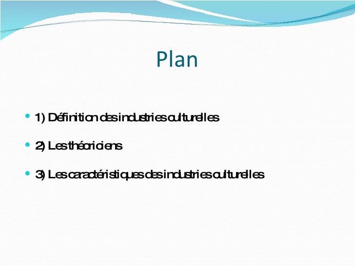 Les Industries Culturelles Slide 2