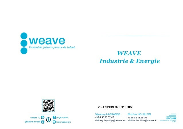 WEAVE                                   Industrie & Energie                                  Vos INTERLOCUTEURS           ...