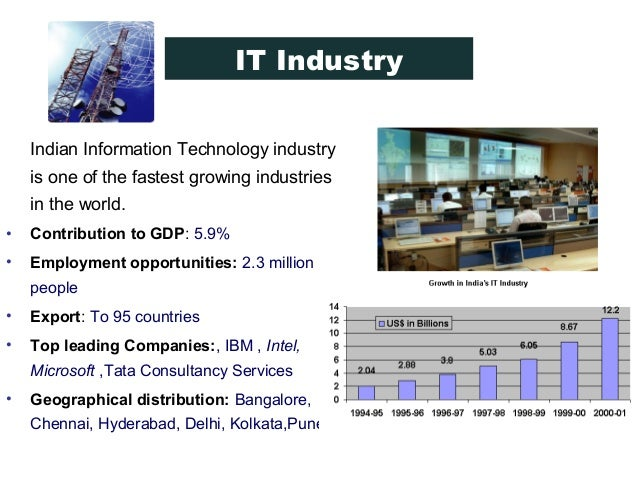 the indian information technology industry Five forces analysis of the indian it industry published on  the author works in the strategy function with an information technology services & products firm and is an alumnus of the .
