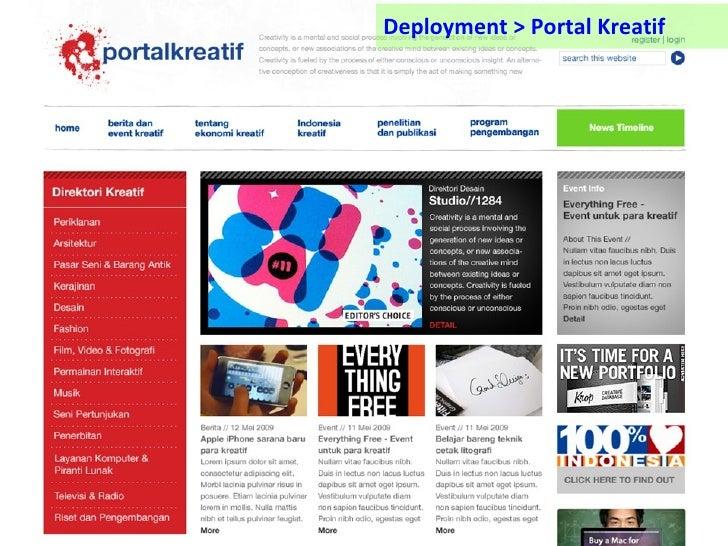 Deployment > Portal Kreatif