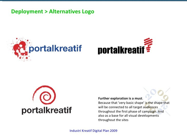 Deployment > Alternatives Logo Further exploration is a must . Because that 'very basic shape' is the shape that will be c...