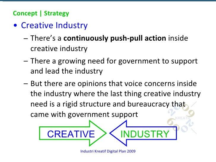 Concept | Strategy <ul><li>Creative Industry </li></ul><ul><ul><li>There's a  continuously push-pull action  inside creati...