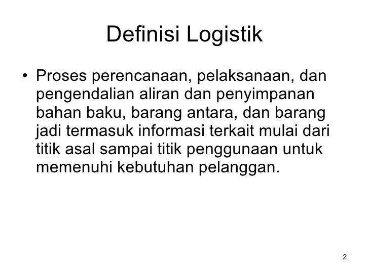 Industri Logistik Indonesia Slide 2