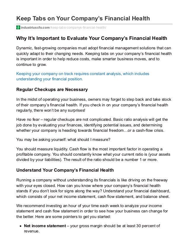 Get a better understanding of your financial position
