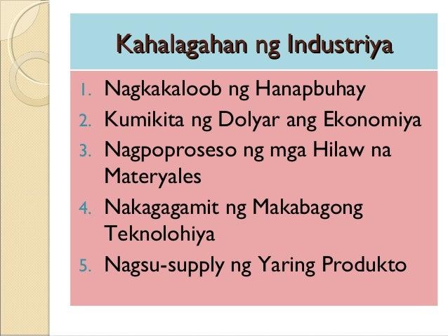 kahalagahan ng sektor ng industriya