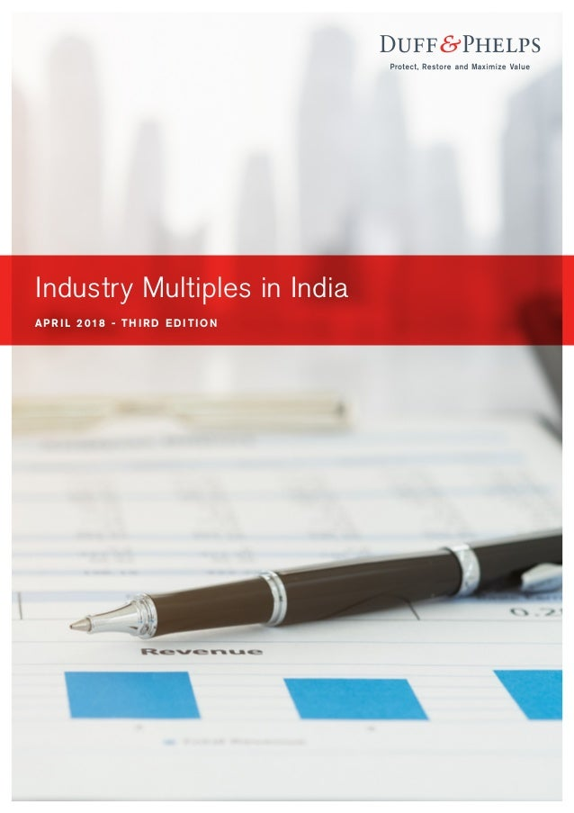 Industry Multiples in India Report Q1 2018