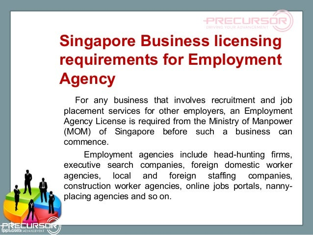 Industry specific business licenses in singapore