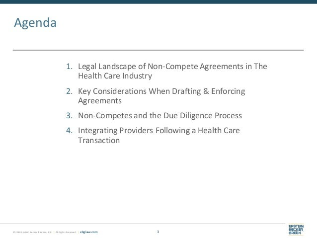 Non Compete Agreements Key Considerations For Health Care Employers
