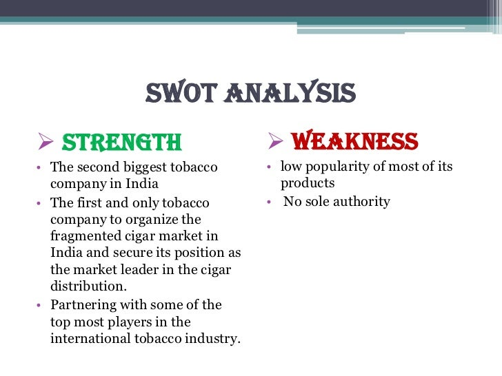 SWOT Analysis for BAT's business Essay