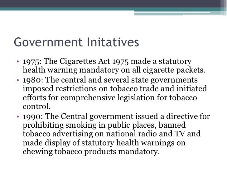 an analysis of government health warnings on cigarette advertisements and restrictions by the advert Tobacco use among the oecd industrialized countries since 1960: advertising restrictions & health warnings, health new zealand, new zealand (1995) hoek, 1999 j hoek effects of tobacco advertising restrictions.