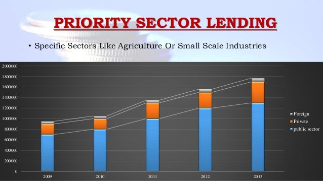 PRIORITY SECTOR LENDING • Specific Sectors Like Agriculture Or Small Scale Industries 0 200000 400000 600000 800000 100000...