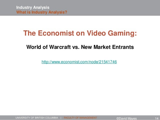 Industry Analysis What is Industry Analysis? http://www.economist.com/node/21541746 The Economist on Video Gaming: World o...