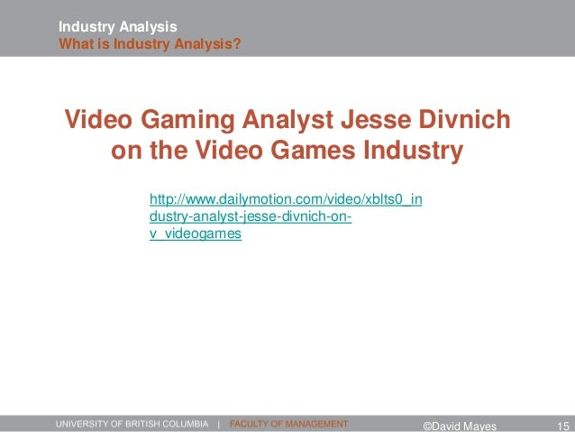 Industry Analysis What is Industry Analysis? http://www.dailymotion.com/video/xblts0_in dustry-analyst-jesse-divnich-on- v...