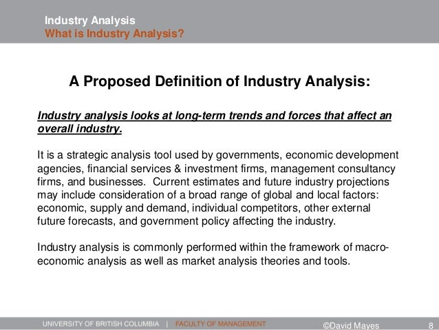 Industry Analysis The Bigger Picture