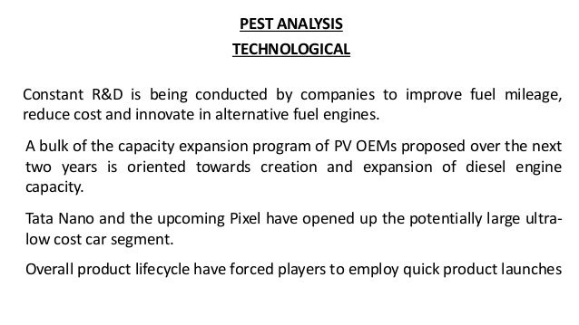 pest analysis of tata motors Looking for most recent nissan motor group swot analysis click here and find out about nissan's strengths honda motor company, hyundai motor company, tata motors, ltd, toyota motor corporation, volkswagen ag and many other pest & pestel analysis new topics ife & efe matrices ge.