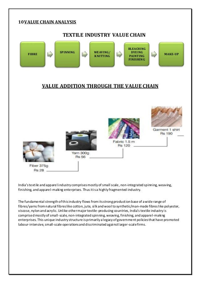 indian textile industry analysis The indian textile industry is an enormous complex entity there is organized sector, decentralized sector and down the line weavers, the artisans as well as the.