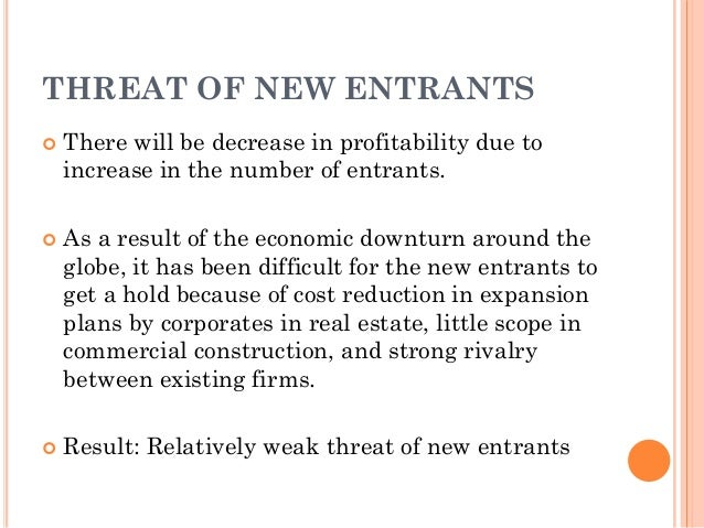 how does the threat of new entrants affect the hotel industry Competitive practices that particular affect international trade in the industries  serving  the buyers and suppliers, substitutes, potential entrants and the rivalry   deter the entry of new firms into an industry even when incumbent firms are.
