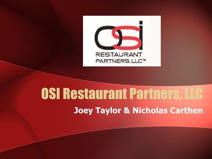 OSI Restaurant Partners, LLC Joey Taylor & Nicholas Carthen