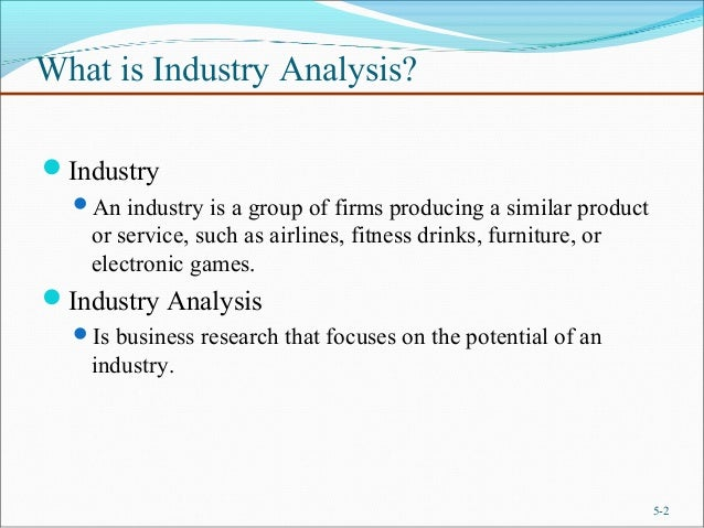 Chapter Industry And Competitor Analysis