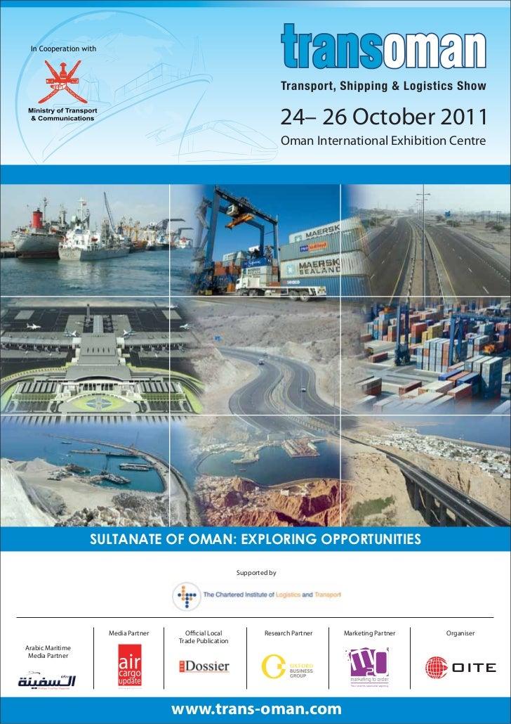 24– 26 October 2011                                                                       Oman International Exhibition Ce...