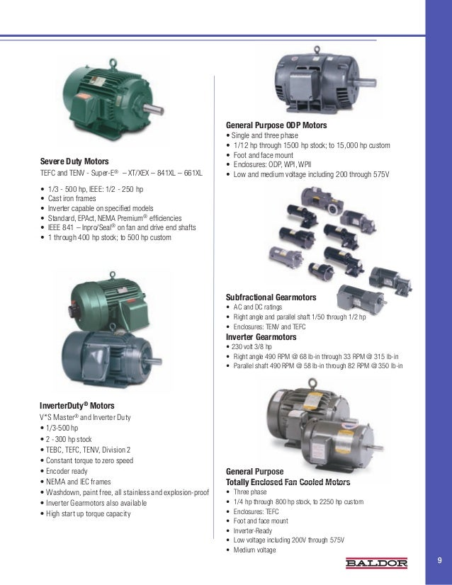 Industry brochure water wastewater for Tefc motor class 1 div 2