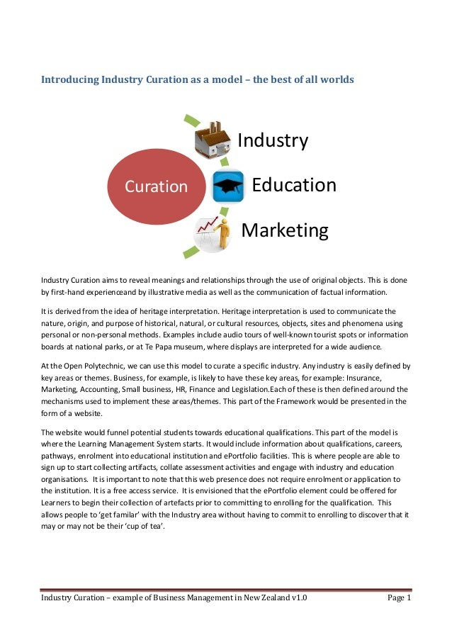 Introducing Industry Curation as a model – the best of all worlds                                                         ...