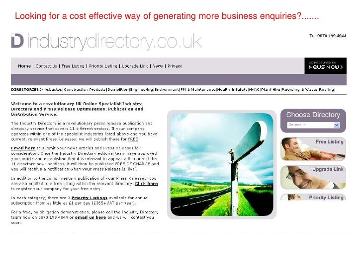 Looking for a cost effective way of generating more business enquiries?.......<br />