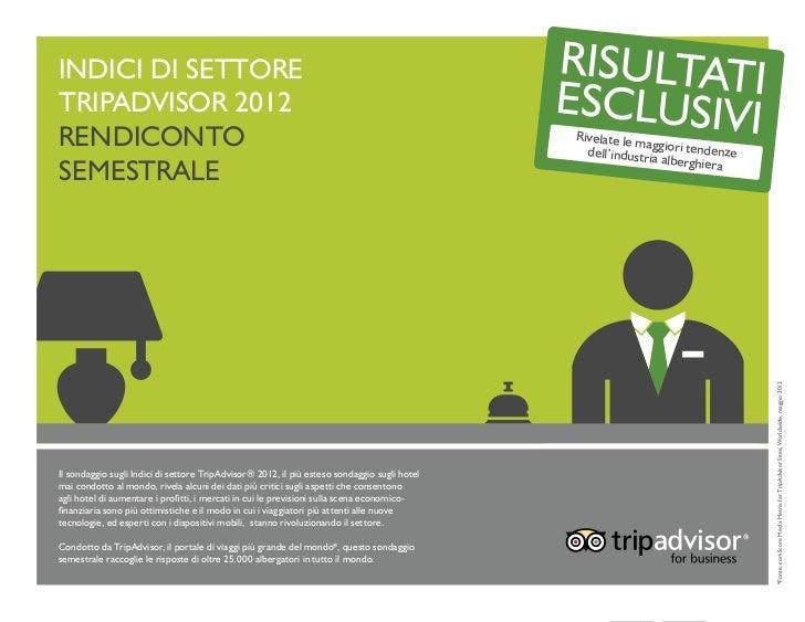 Indici di settoreTripAdvisor 2012Rendiconto                                                                               ...
