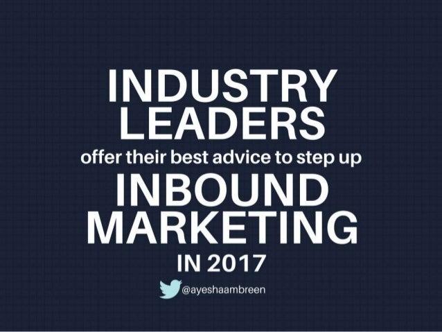 Step up inbound marketing in 2017