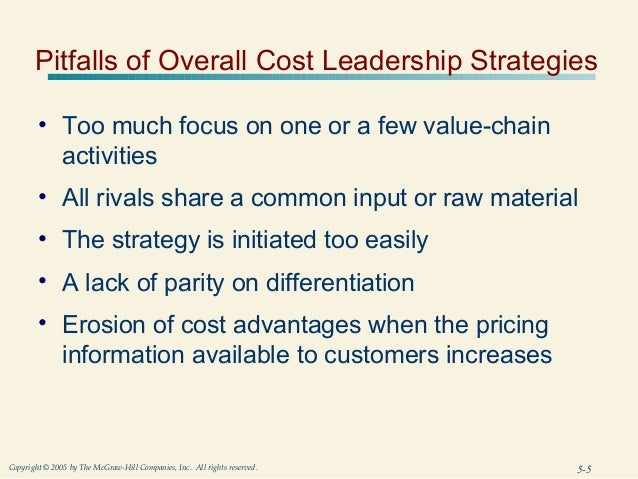 walmart overall cost leadership and differentiation strategy An example of a company following a cost leadership strategy is wal-mart wal-mart serves a broad customer base and keeps prices low differentiation strategy.