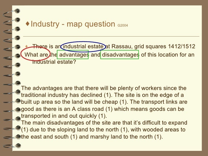 <ul><li>Industry - map question  G2004 </li></ul><ul><li>There is an industrial estate at Rassau, grid squares 1412/1512 <...